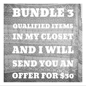 Bundle three items in my closet and 💰 $30